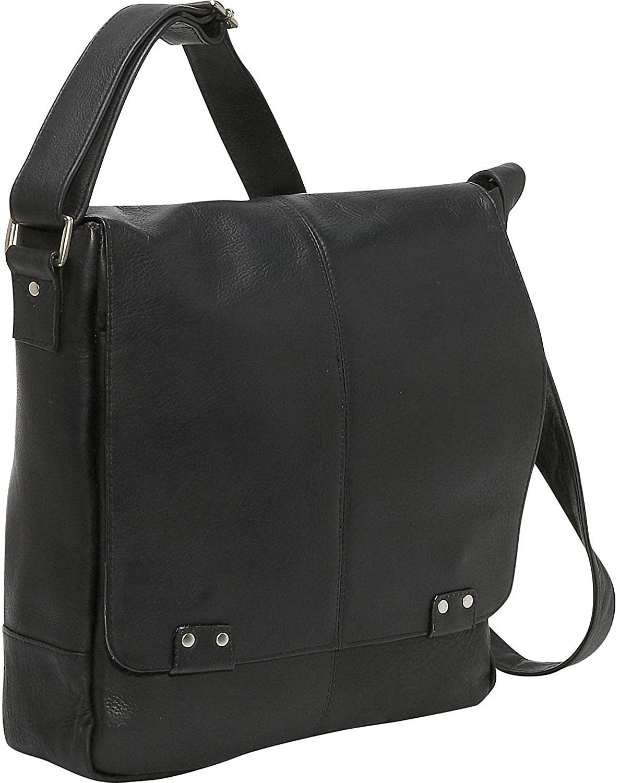 """Le Donne Leather Rivet Laptop Messenger Bag – Premium Full-Grain Colombian Vaquetta Leather Bag, 14"""" x 14"""""""