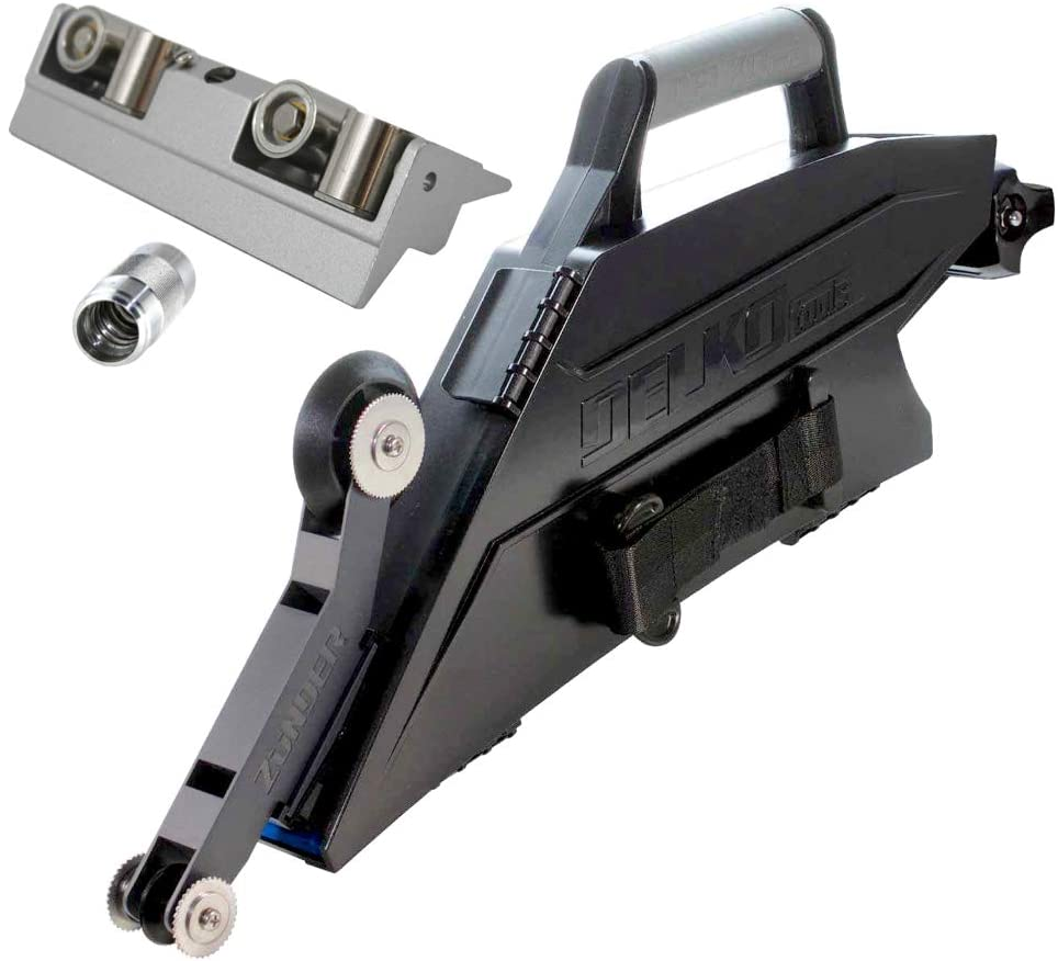 Delko Zunder Drywall Banjo Taping Tool PLUS Pro Grade Inside Corner Roller and Coarse Thread Adapter