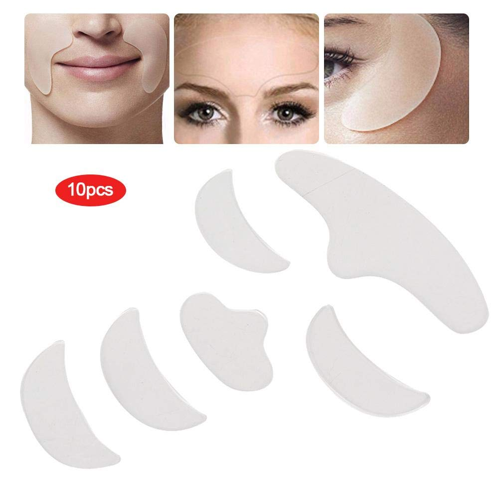 Anti-Ageing for Rejuvenated Skin elasticity 6Pcs Anti Wrinkle Silicone Patch Pad Skin Lifting Reusable Forehead Eye Chin Face Patch