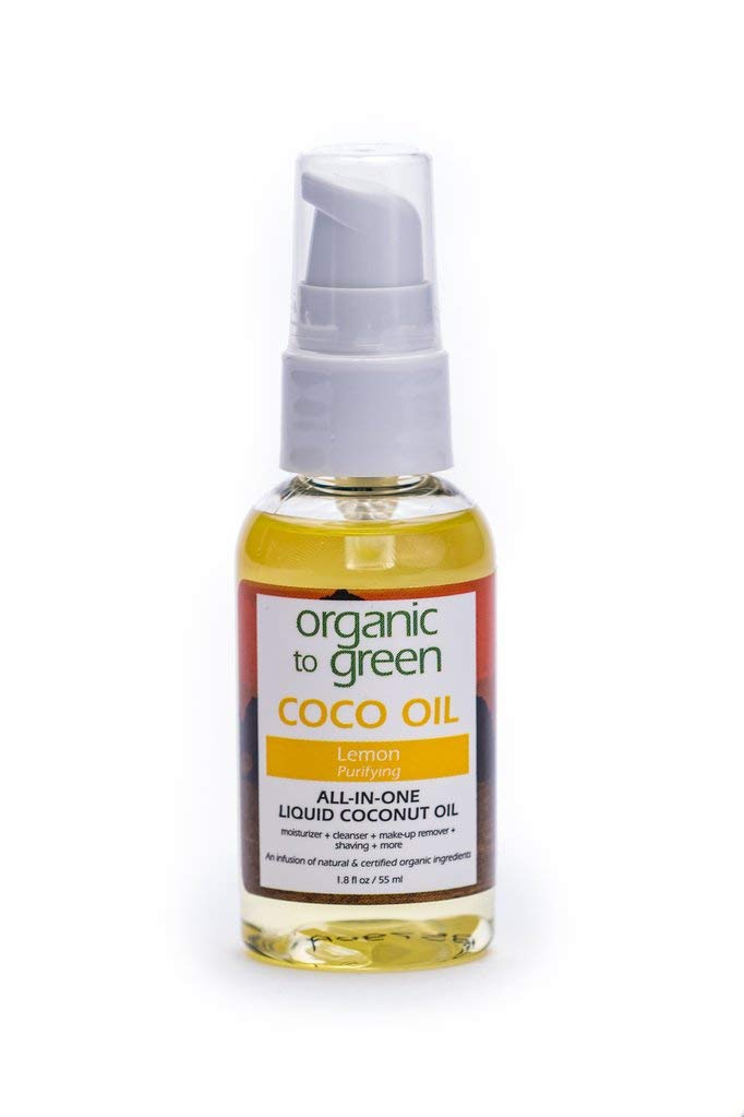 Organic To Green Liquid Coconut Oil Oil Lemon Purifying 1.8 Fl Oz
