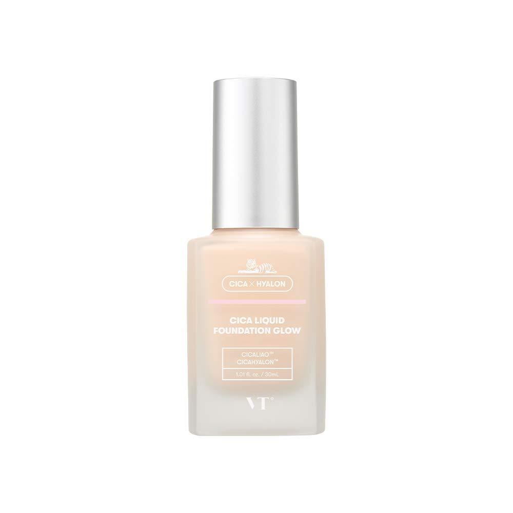 VT COSMETICS CICA Liquid Foundation Glow- BTS Makeup   BTS Foundation   Glowing Foundation   Moist Cover   Sheer Skin Makeup   Long Lasting   Hydrating   No.21