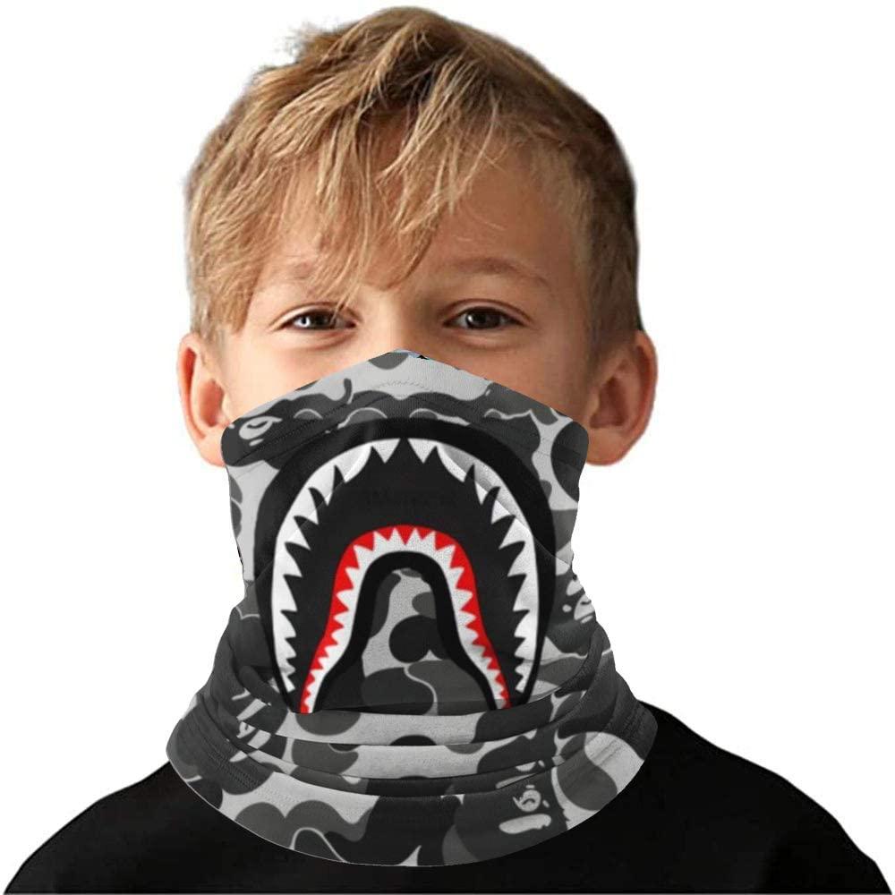 Fashion Shark Bandana Face Cover Face Protection Balaclava Scarf For Dust, Outdoors