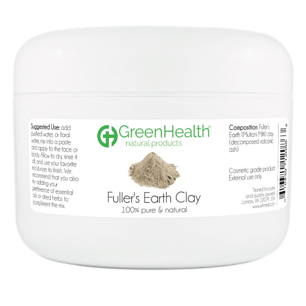 Fullers Earth Clay Powder 6 oz - 100% Pure & Natural by GreenHealth