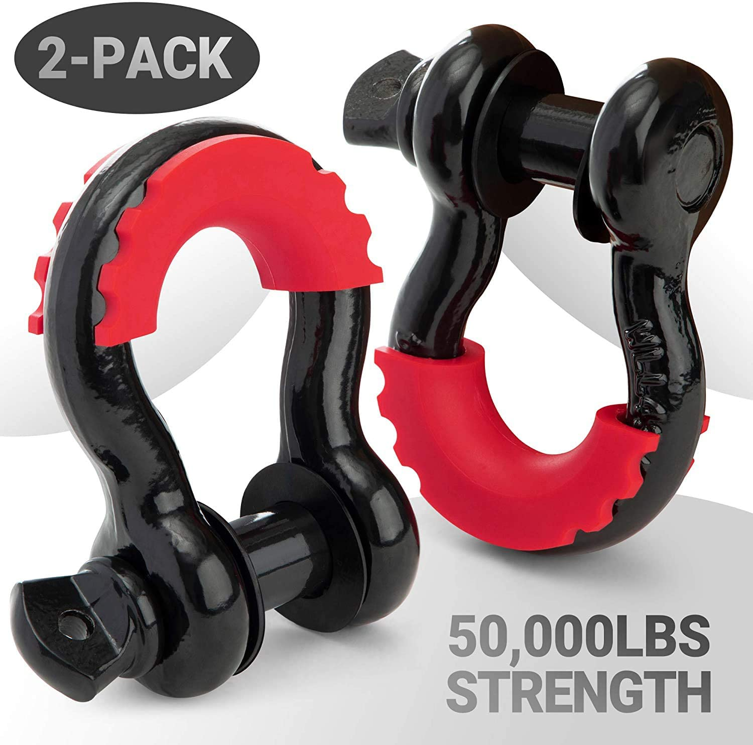 PROREADY D-Ring Shackles - Set of 2 Offroad Shackles with 7/8 in. Locking Pin - Offroad Shackles for Towing - Your Next Outdoor Camping Adventure Awaits