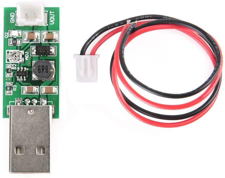 Filfeel B-uck Converter Step Down Module Power, 7W USB DC 5V to 6V 9V 12V 15V Adjustable Output Voltage Step-up Board DC-DC Boost Converter