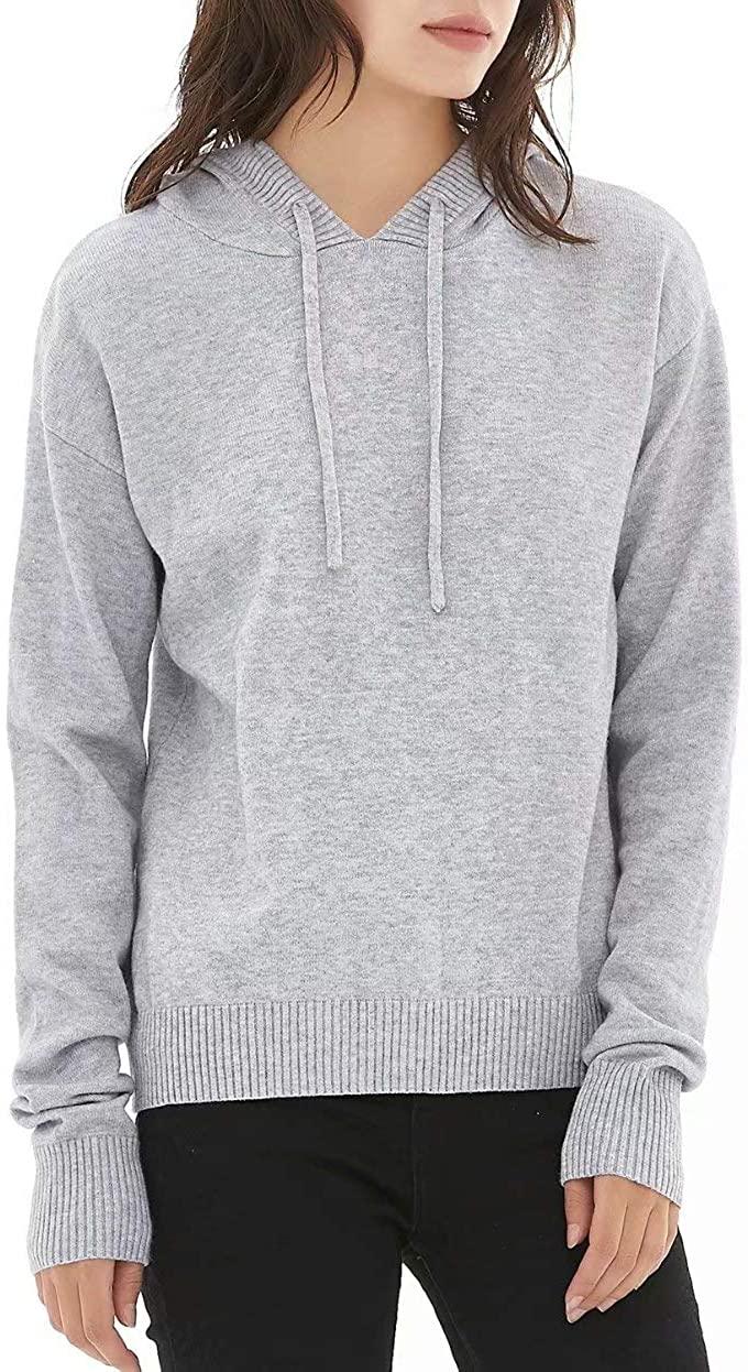 QUALFORT Women's Pullover Hoodie Casual Long Sleeve Sweatshirts with Pocket