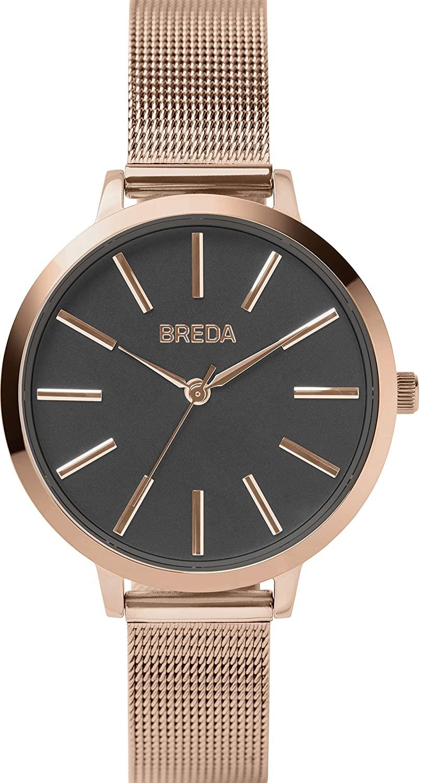 BREDA Women's 'Joule' 1731 Steel Mesh Strap Watch, 37MM