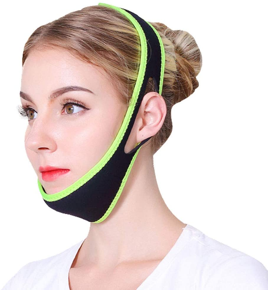 Facial Slimming Strap Double Chin Reducer Eliminate Wrinkle Anti-Aging Stop Snoring Chin Strap Belt Bandage V Line Lifting Beauty Care for Women Girls Mens