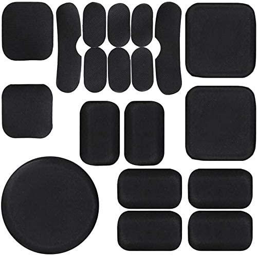 Helmet Padding Replacement, 19 pcs Universal Airsoft Helmet Pads Replacement Foam Inserts Padding Kit EVA Set Accessories Mats for Fast/Mich/ACH/USMC/PASGT Helmet