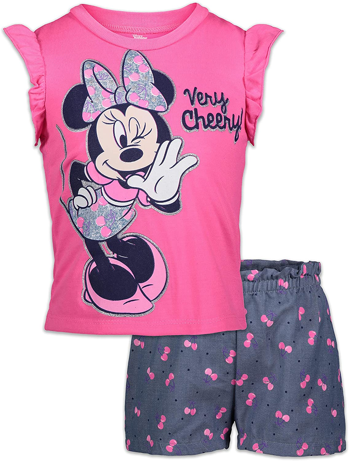 Disney Minnie Mouse Baby Girls T-Shirt and Shorts Set