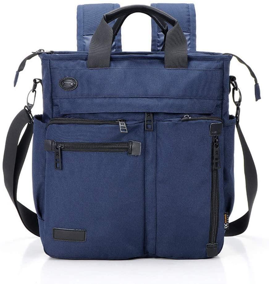 Crossbody Messenger Bag, Multifunctional Shoulder Bag, Laptop Bag for for Men and Women College School Business Sport Travel (Dark Blue)