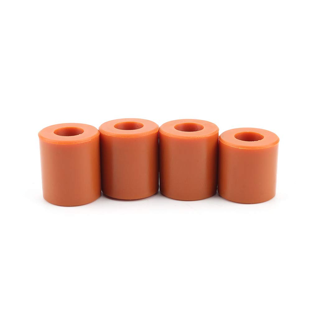 FYSETC 3D Printer Heatbed Parts, Solid Bed Mounts, OD 0.63 in ID 0.16 in Stable Hotbed Tool Heat-Resistant Silicone Buffer for CR-10 Ender 3 Bottom Connect, 4 Pcs