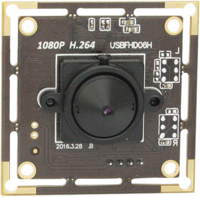 SVPRO 3.7mm Pinhole Mini USB Camera Module Board 1080P Full HD, Sony IMX322 USB Camera Board with Microphone, 0.01Lux Low Illumination Webcam H.264 Video Output