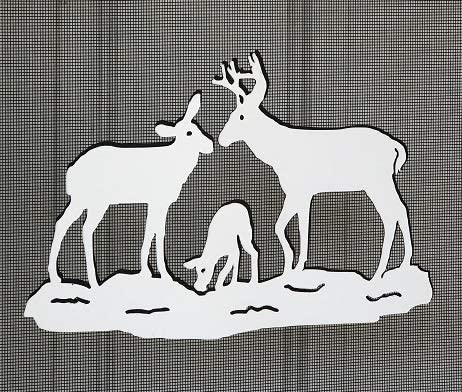 DCentral Deer Family Flexible Screen Magnet: Double-Sided Decor; for Non-Retractable Screens, Multipurpose, Helps to Stop Walking into Screens, Covers Small tears in Screens, Size L 6.3