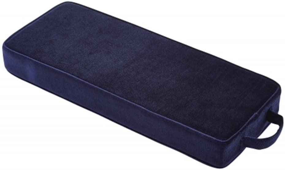 Religious Gifts Microfiber and High Density Foam Personal Prayer Kneeler Pad, Navy Blue, 18 3/4 Inch