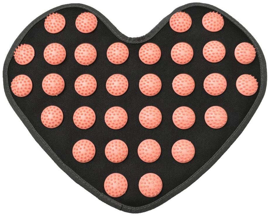 Youri Soul Acupressure Mat, Pain Relief mat, Pressure Mat-Back/Neck Pain Relief and Muscle Relaxation, Full Body Massager Yoga Acupuncture Mat Cushion for Sciatica, Trigger Point Mat (Black,Pink)