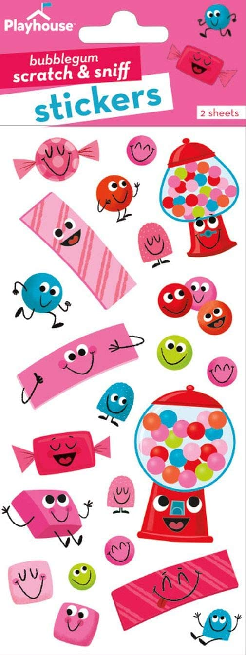 Playhouse Bubblegum Fun Bubblegum Scented Scratch & Sniff Sticker Sheets