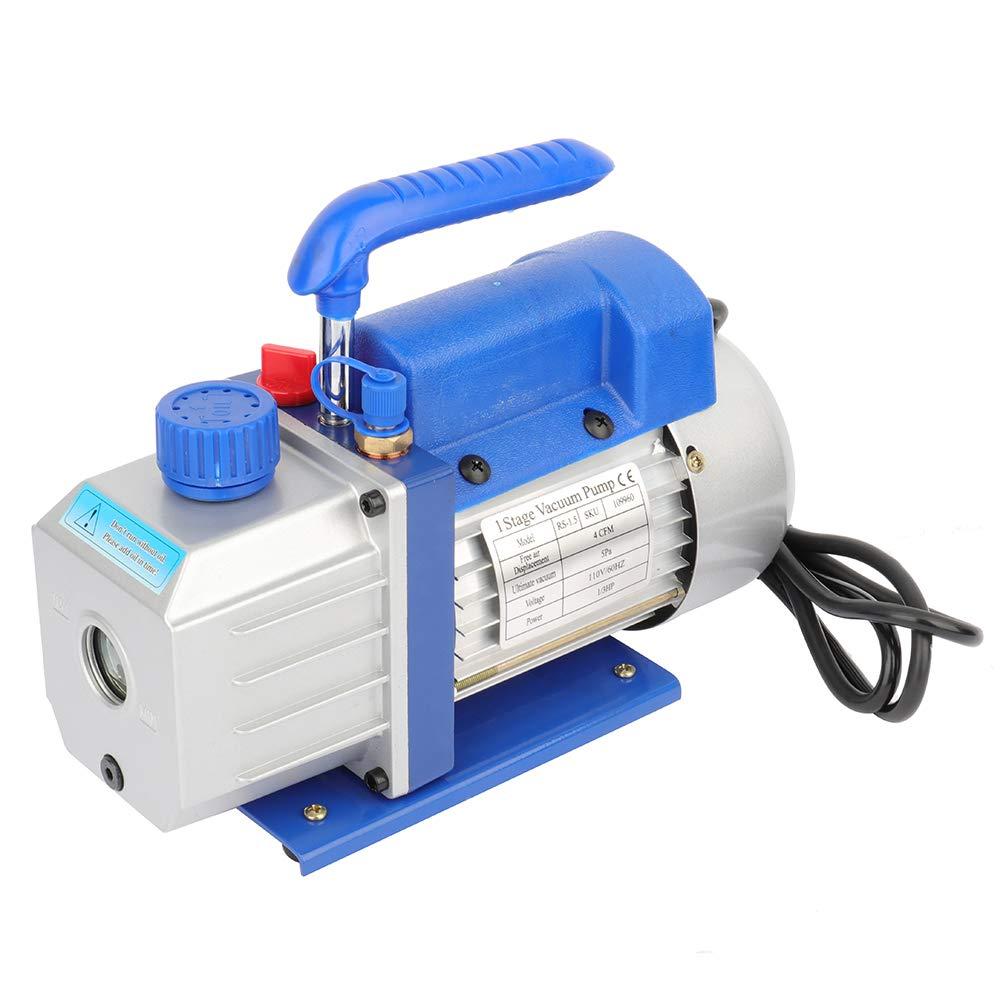 GYZJ 4 CFM Rotary Vane Vacuum Pump (4CFM,1/3HP,110V/60Hz,5 PA 1/4 Flare Inlet Port,320 ml Oil Capacity) for HVAC/Auto AC Refrigerant Recharging, Wine Degassing, Milking, Medical, Food Processing etc