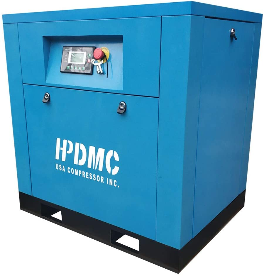 HPDMC Variable Speed 5HP 208-230V/60Hz / Single Phase/ 19cfm@125psi / Built-in Oil Separator Energy Efficient Rotary Screw Air Compressor