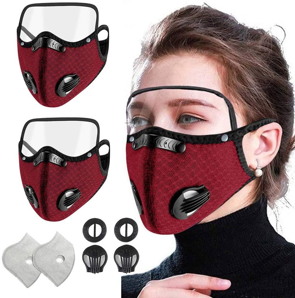 ShaggyDogz Adult Reuseable Washable Breathable Unisex Face Bandanas With Eyes Shield Childrens Protective Outdoors School