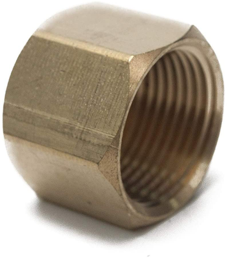 LTWFITTING Lead Free Brass Pipe Cap Fittings 3/4