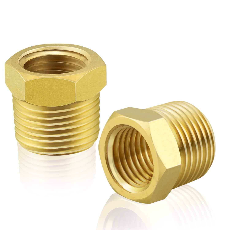 Gasher 2 Pieces Brass Hex Bushing 1