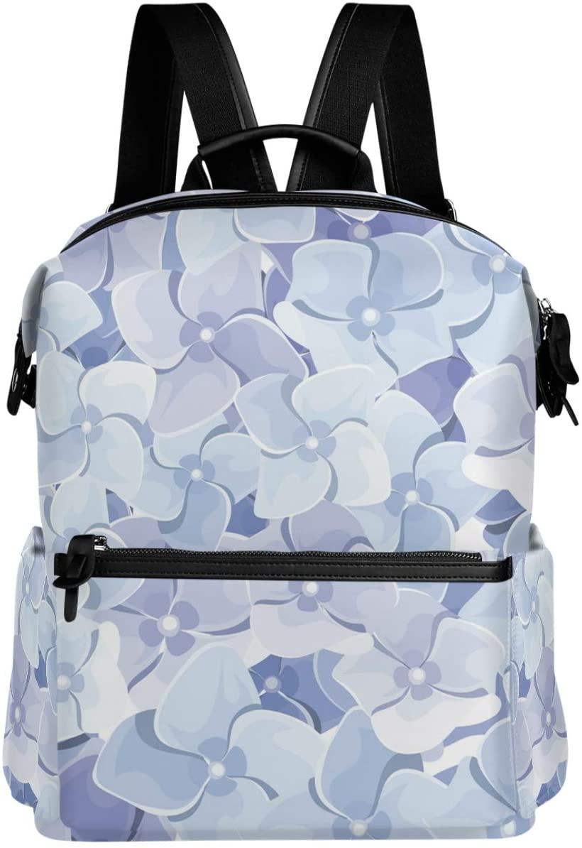 Oarencol Purple Flower Floral Backpack School Book Bag Travel Hiking Camping Laptop Daypack