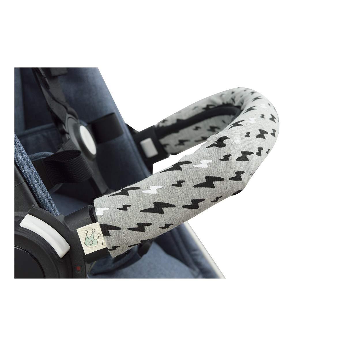 JANABEBE Covers Handle, Covers Railing for Stroller (Black Rayo, Regular)