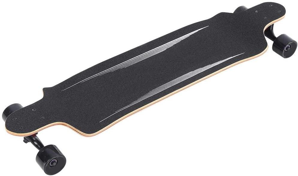 Alomejor 41in Skateboard Maple Skateboard Skate Dancing Board Longboards Skateboarding 250kg