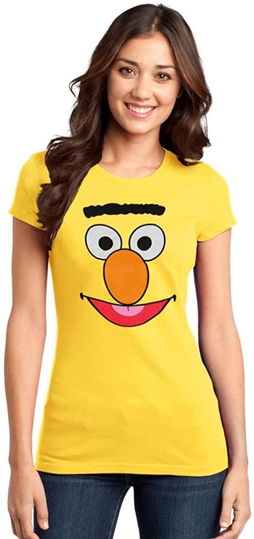 Sesame Street Bert Face Junior Women's T-Shirt