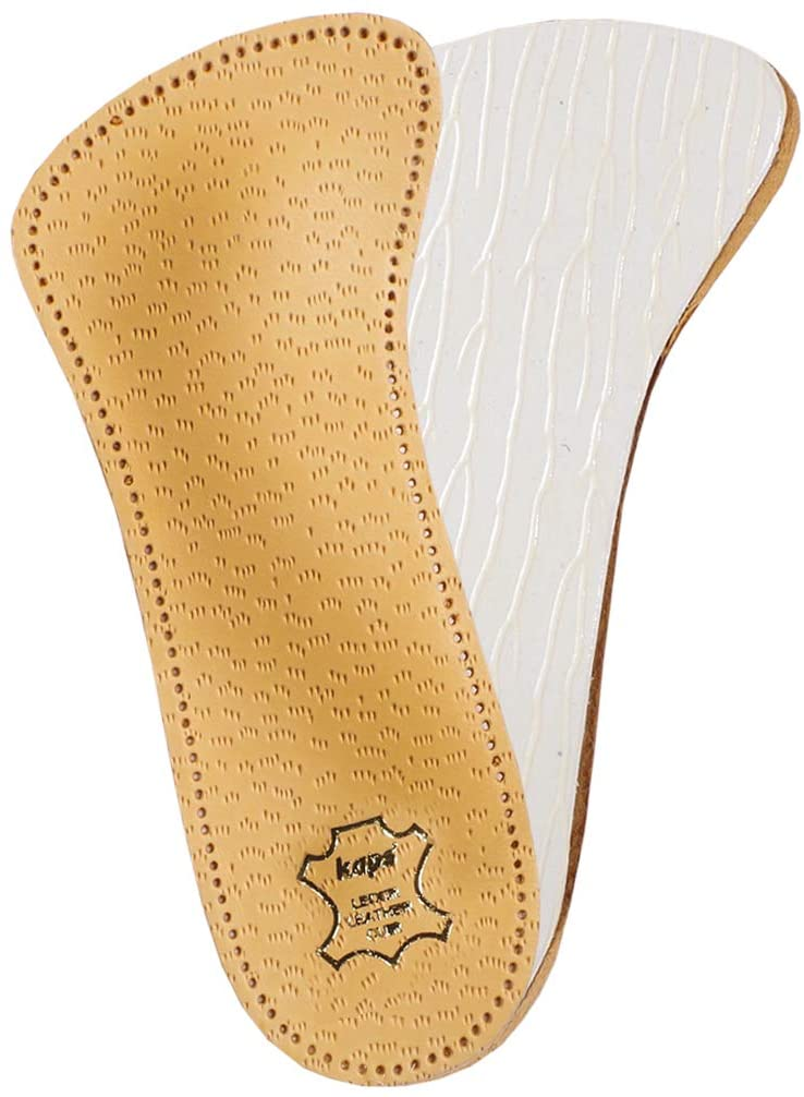 Orthotic 3/4 Leather Insoles with Longitudinal and Transverse Arch Support, Kaps Flamenco, All Sizes (Women / 7 US / 38 EUR / 5 UK)