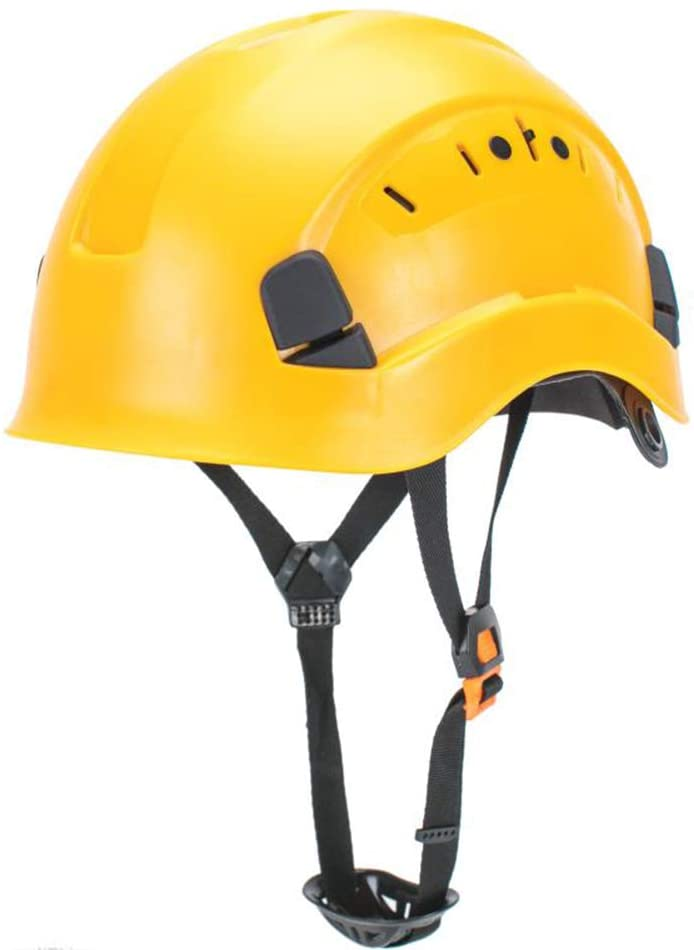 LOHASWORK Safety Hard Hat - Adjustable ABS Climbing Helmet - 6-Point Suspension, Perfect for Riding, Climbing and Construction (Yellow)