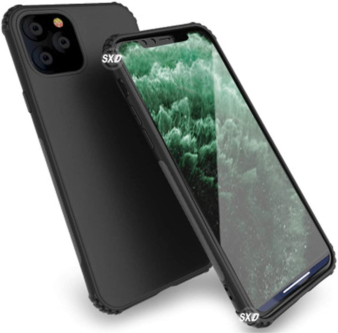 Compatible with iPhone 11 Pro Max Case Shockproof, Clear Hard PC with Soft TPU Edges, Protective Case Designed for iPhone 11 Pro Max 6.5