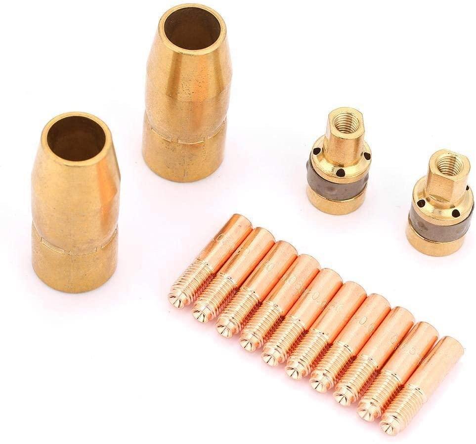 Beennex 14Pcs/Set Welding Set Nozzle Contact Tip Mig Parts Fit Miller 2pcs169715+2pcs196716-10pcs000067