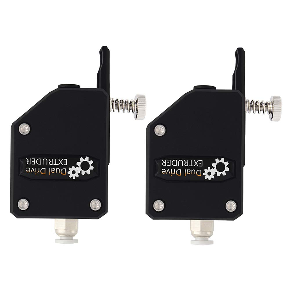 【2pcs/Pack】3D Printer BMG Extruder, Cloned Bowden Extruder, Dual Drive for 1.75 Filament for Prusa i3 MK3 Wanhao D9 Creality CR10 Ender 3 Anet E10 Tevo Tornado Parts, Black
