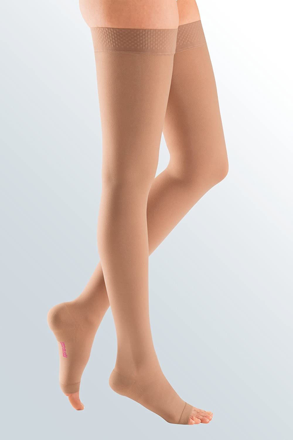 mediven Plus, 40-50 mmHg, Thigh High w/Silicone Top-Band, Open Toe