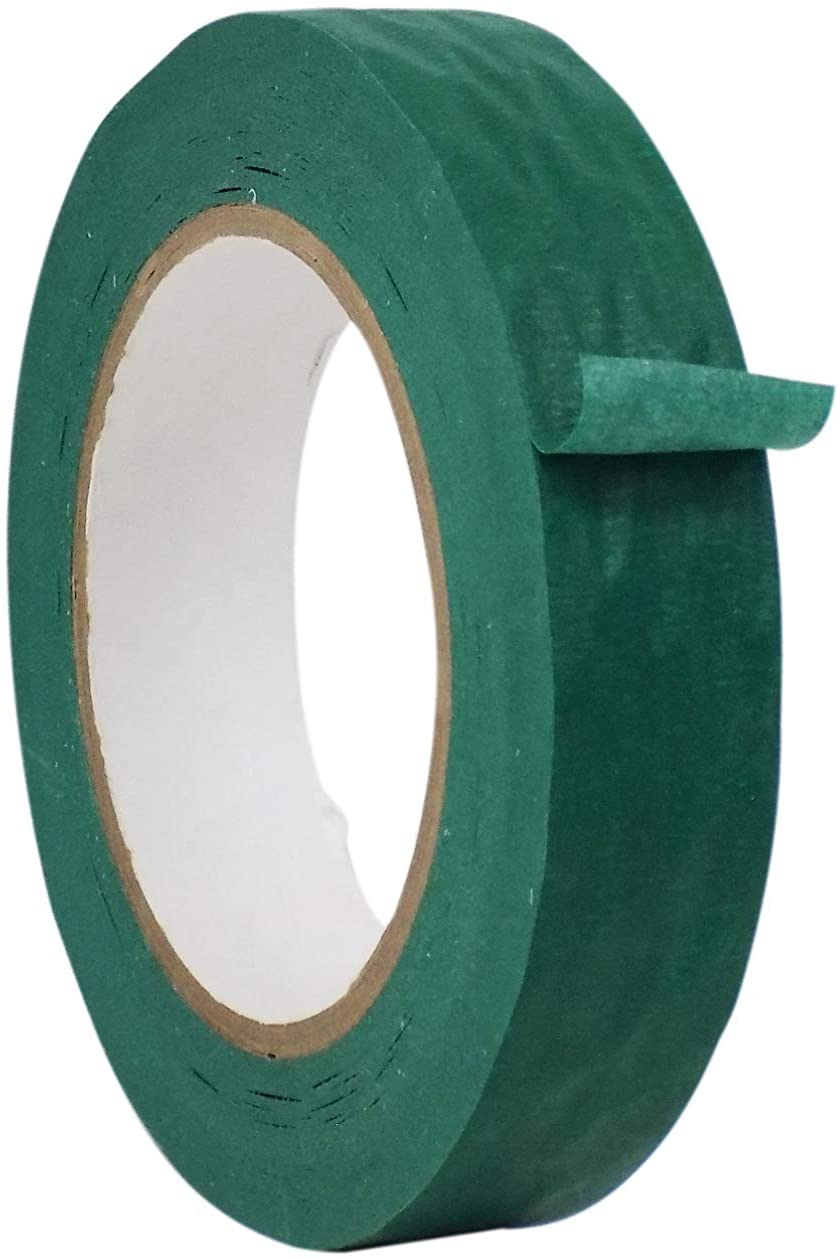WOD MTC5 General Purpose Green Masking Tape, 4 inch X 60 yds. - for Fun DIY Arts & Crafts, Labeling, Writable & Decorations (Available in Multiple Sizes & Colors)