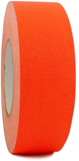 T.R.U. FCT-665 Fluorescent Orange Premium Grade Gaffers Stage Tape Matte Cloth with Rubber Adhesive, 1.5