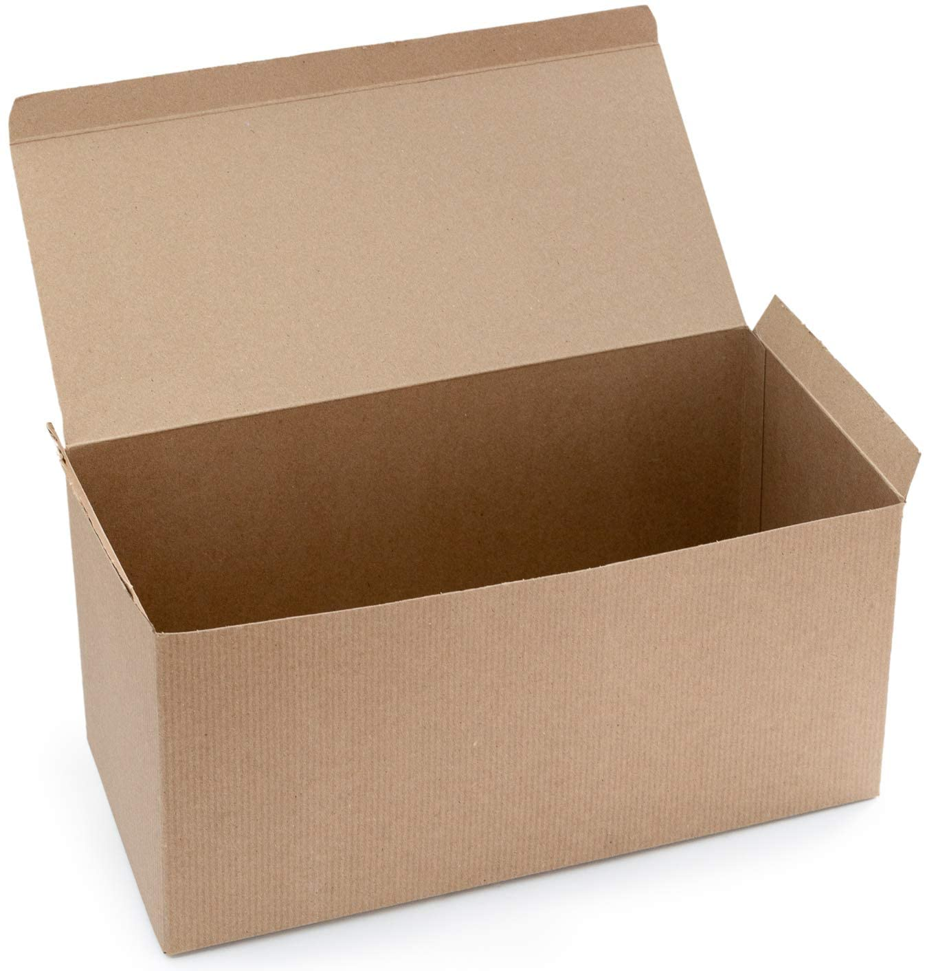 Made in USA 10-Count Recycled Brown Kraft Gift Boxes (15