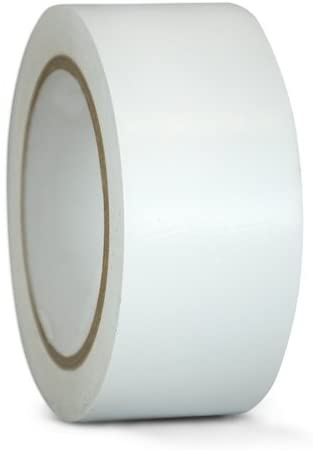 T.R.U. CVT-536 White Vinyl Pinstriping Dance Floor Tape: 4 in. Wide x 36 yds. Several Colors