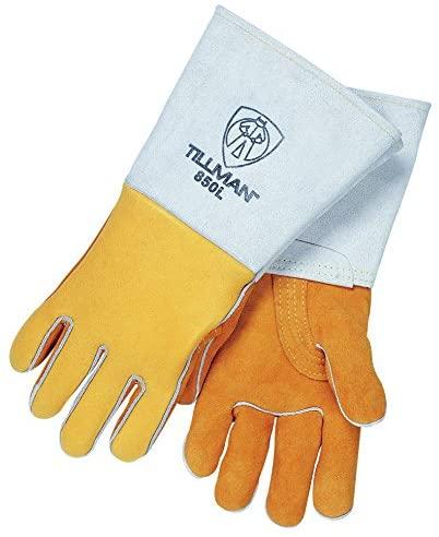 Tillman 850 Gold Elk Skin Premium Welding Gloves-S