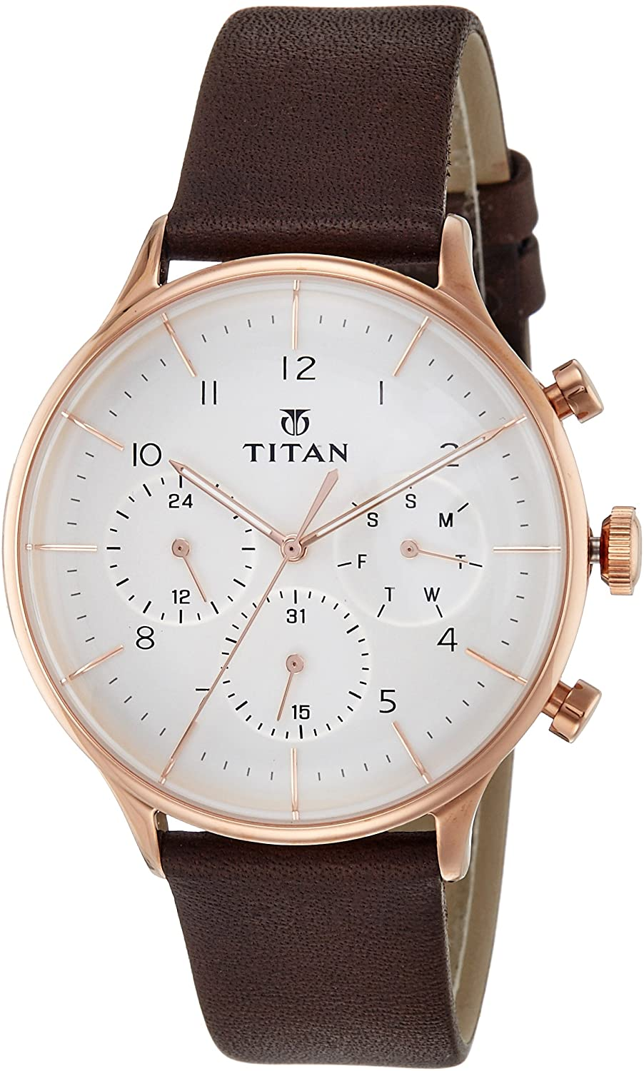 Titan Men's On Trend Chronograph Watch - Quartz, Water Resistant
