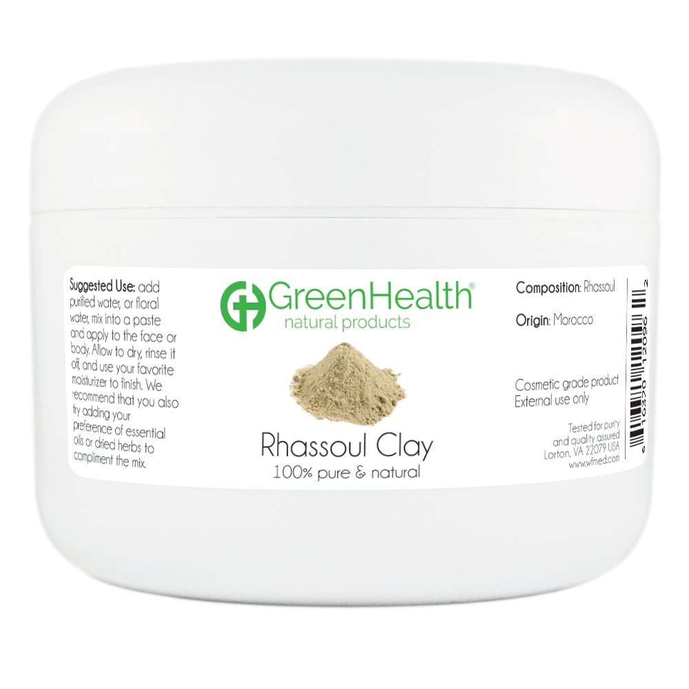 Rhassoul Clay Powder - 100% Pure & Natural by GreenHealth