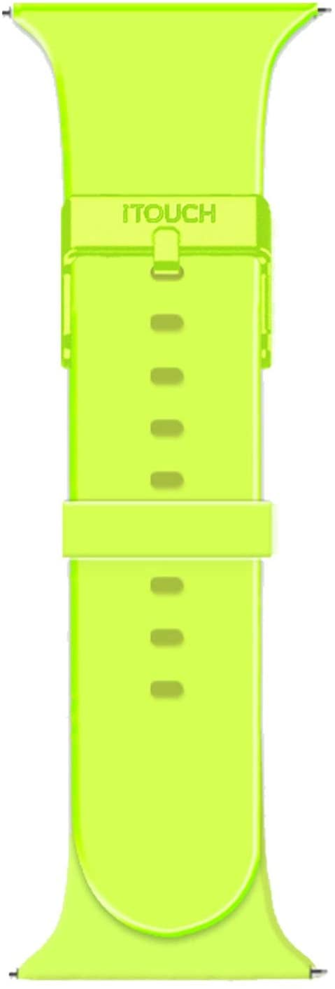 iTouch Sport Solid Silicone Smartwatch Straps, Replacement Smartwatch Straps, Solid Silicone Straps for Smartwatches, Compatible ONLY with The iTouch Sport Smartwatch (Lime)