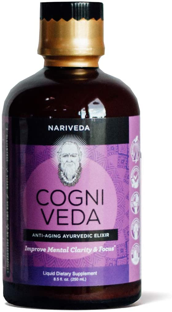 Cogni Veda by Nariveda | Ayurvedic Nootropic for Mental Agility, Clarity, and Focus | A Clinically-Proven, Plant-Based Supplement with NeuroFactor®, Cognizin® (CitiColine) Mono-Atomic Gold & Platinum
