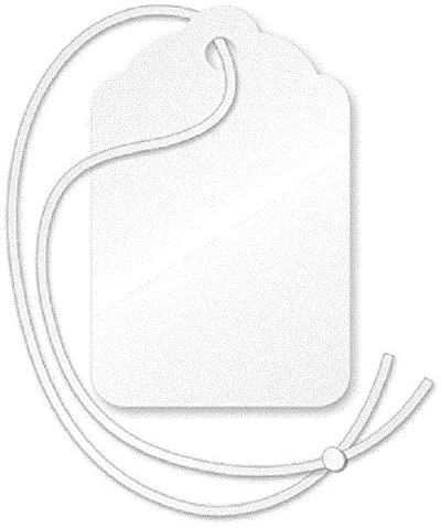 1000 Count Pre-Strung Blank White Merchandise Price Tags Large Small Hang String Jewelry (#7 = 1 7/16