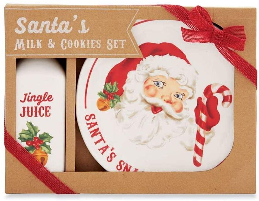 Mud Pie Santas Milk and Cookies Set