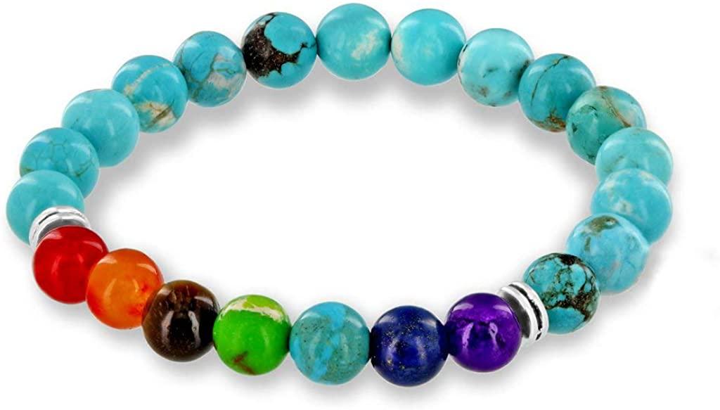 Believe London Gemstone Healing Chakra Bracelet Anxiety Crystal Natural Stone Men Women Stress Relief Reiki Yoga Diffuser Semi Precious