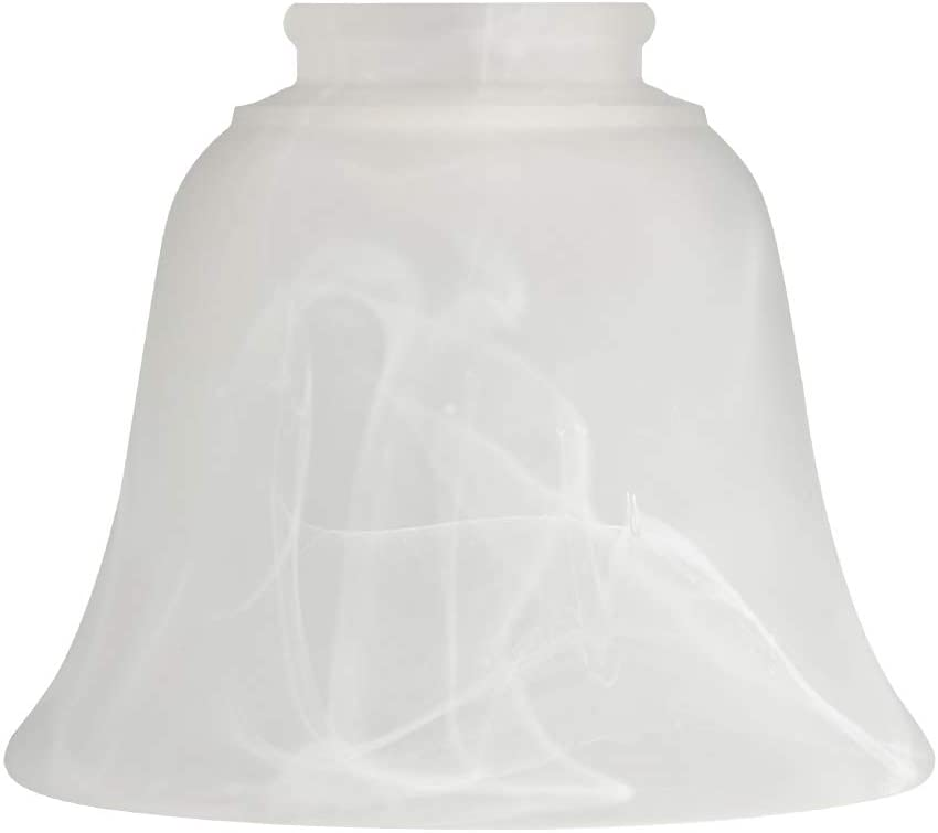 Jeuneu Alabaster Glass Lampshade White Glass Replacement Light Shade Height 4.33 inch,Width 5.31 inch (White-D)