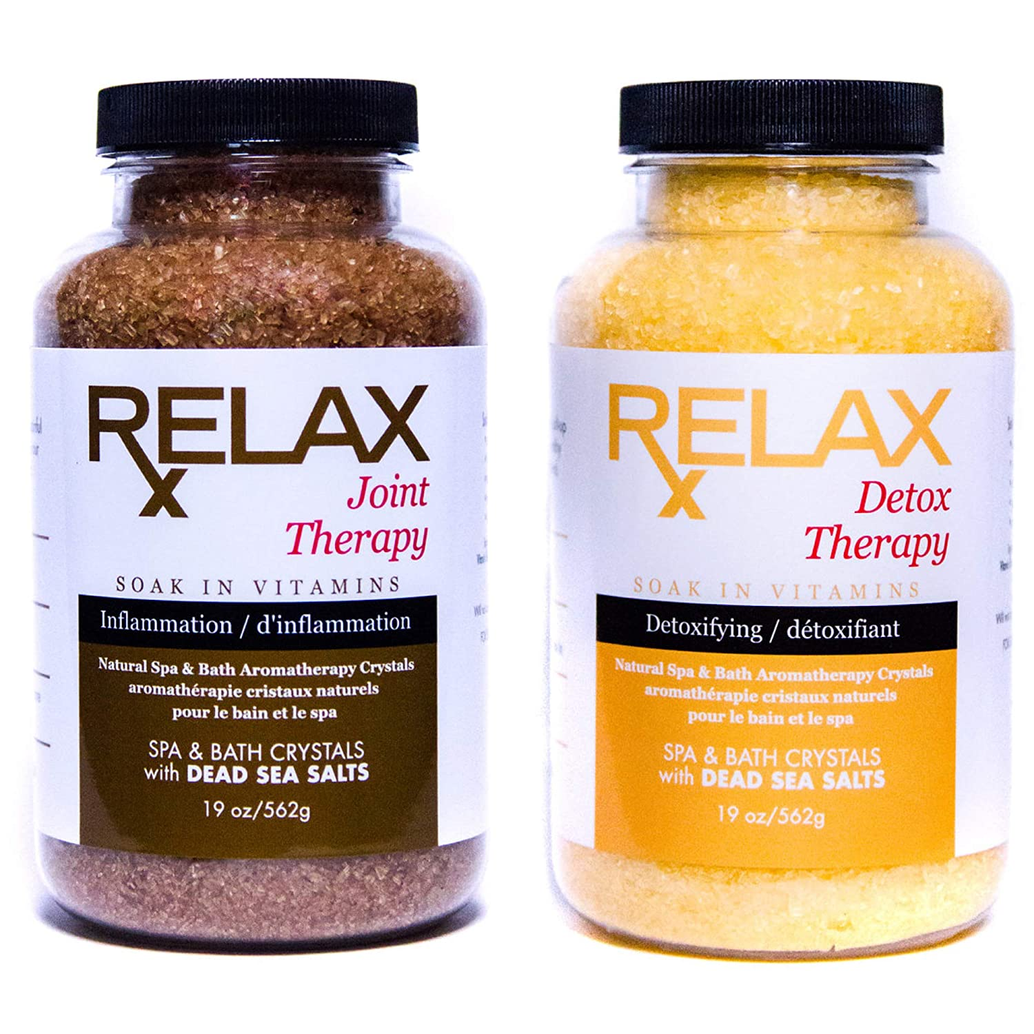 Natural Epsom Salt Infused with Aromatherapy (2 Pack) Premium Bath Salts - Dead Sea Salts - Essential Vitamins and Minerals for Aches, Pains, Cramps - Safe for Spa & Bath